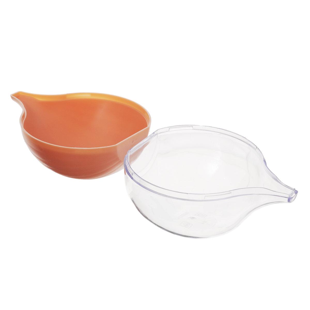 """Контейнер для хранения луковицы """"Phibo"""", цвет: прозрачный, светло-коричневый"""