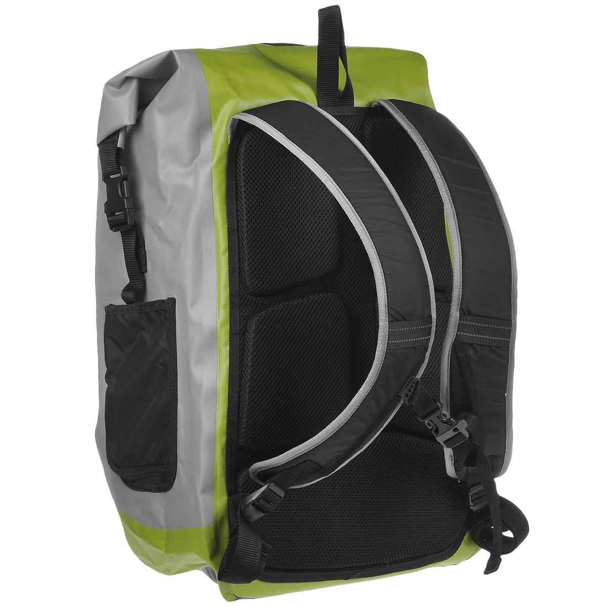 """Рюкзак городской Norfin """"Dry Bag"""", цвет: серый, неоновый желтый, 35 л ( NF-40303 )"""