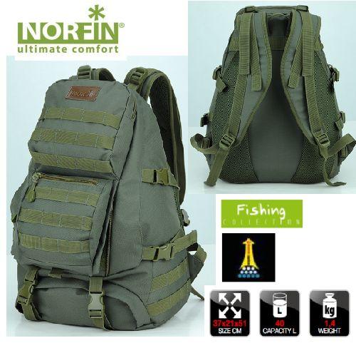 """Рюкзак тактический Norfin """"Tactic"""", цвет: зеленый, 40 л"""