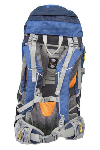 "Рюкзак Helios ""Highlander"", цвет: серый, синий, 60 л"