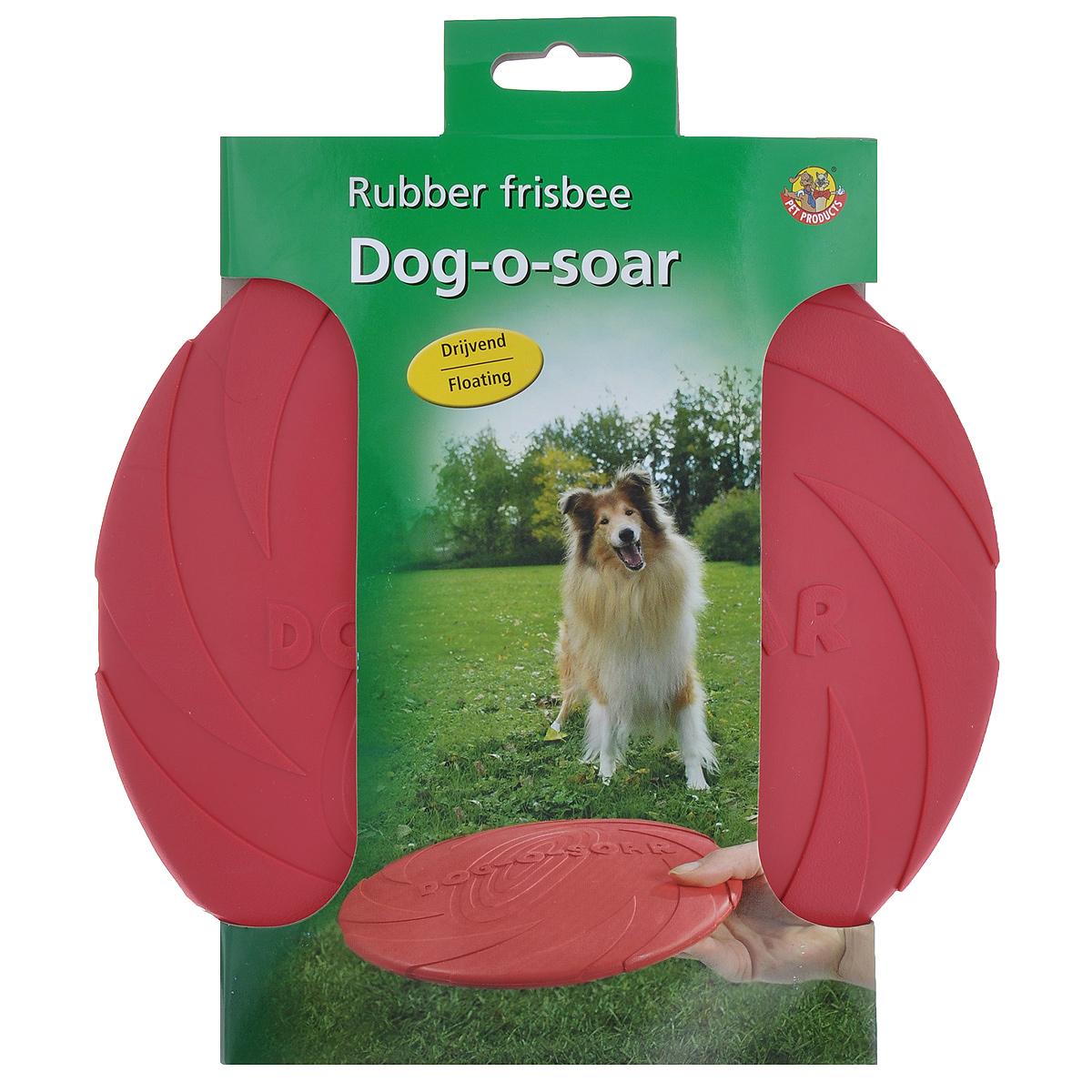 """Игрушка для собак I.P.T.S. """"Фрисби"""", цвет: малиновый, диаметр 22 см"""