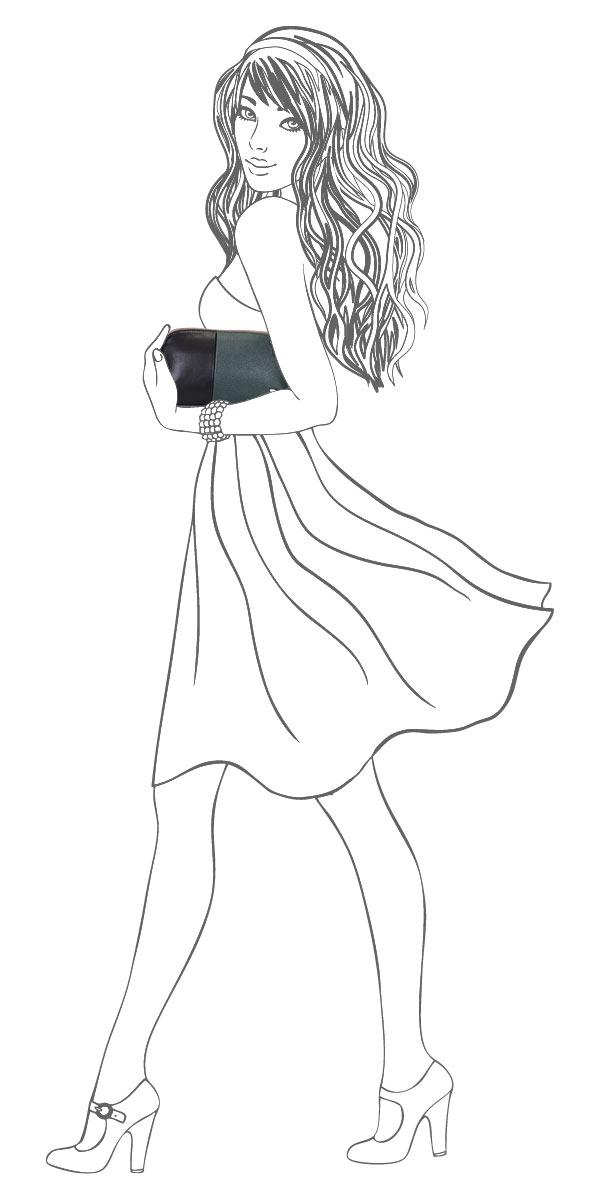 Сумка-клатч женская Leighton, цвет: зеленый, черный. 510336-3769 ( 510336-3769/6/1166/101/11 )