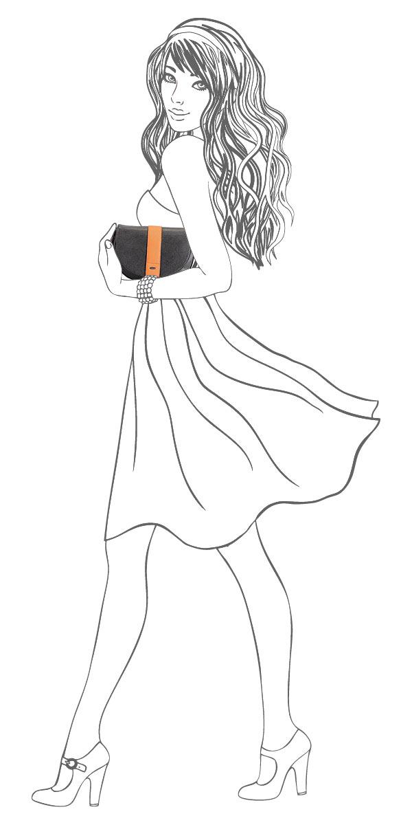 """Сумка кросс-боди женская""""Leighton"""", цвет: черный, оранжевый. 81777-3769/1/3769/17 ( 81777-3769/1/3769/17 черн )"""