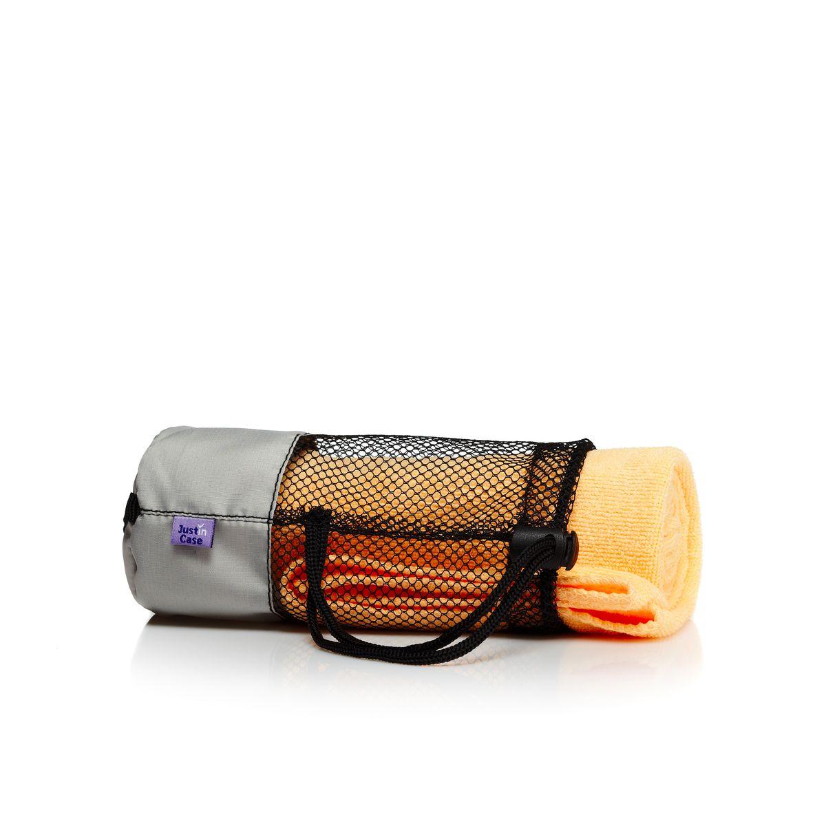 """Полотенце """"JustinCase"""", цвет: желтый, персиковый, 40 см х 60 см"""