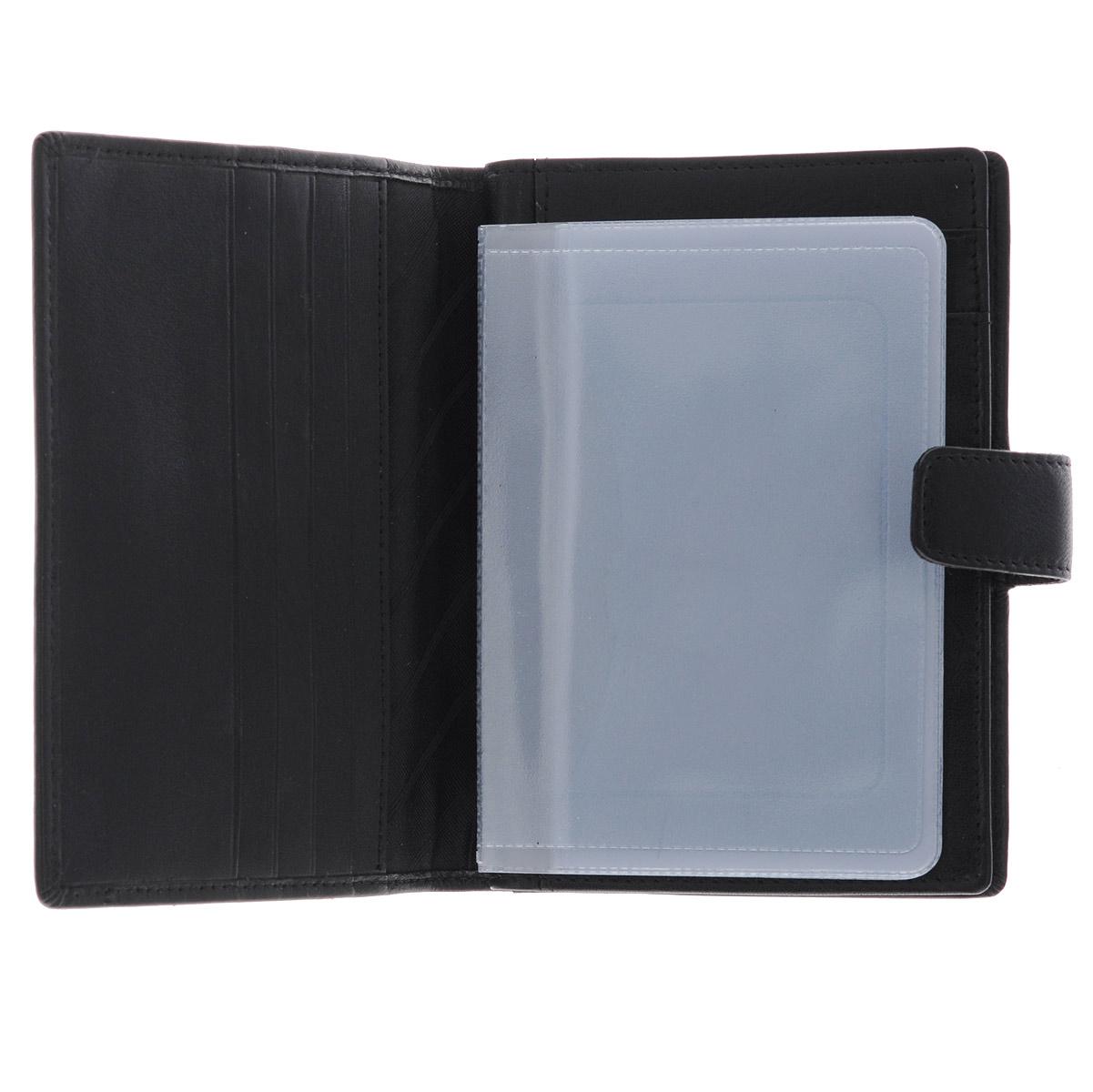 """Бумажник водителя Феодора """"Мегаполис"""", цвет: черный. Ручная роспись ( BV-AF-MGЧ )"""