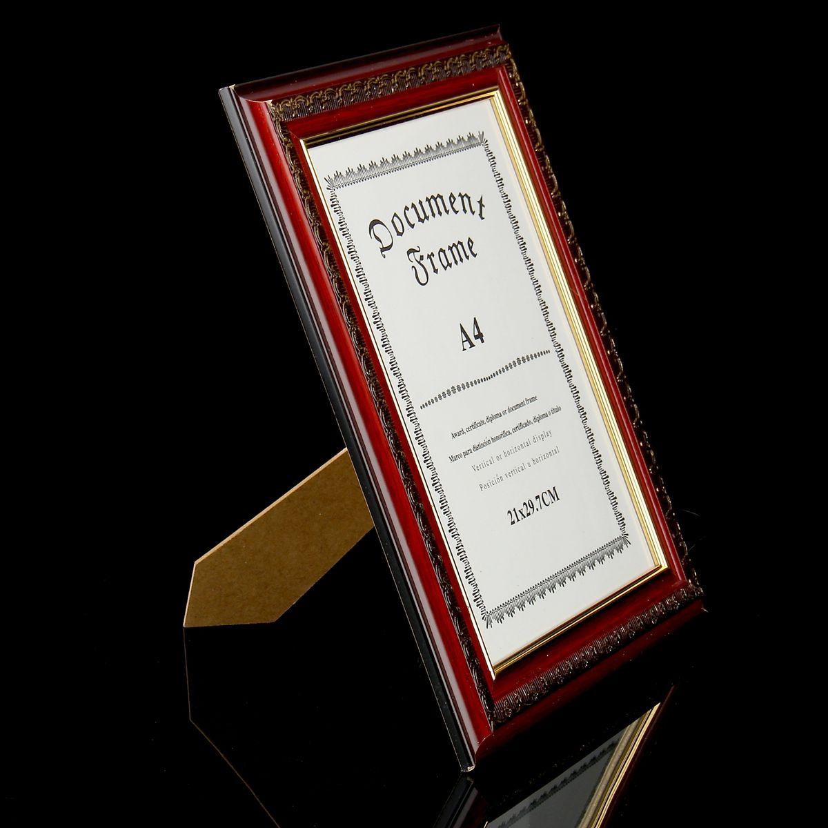 """Фоторамка Sima-land """"Италия"""", цвет: коричнево-красный, золотистый, 21 см х 29,7 см"""