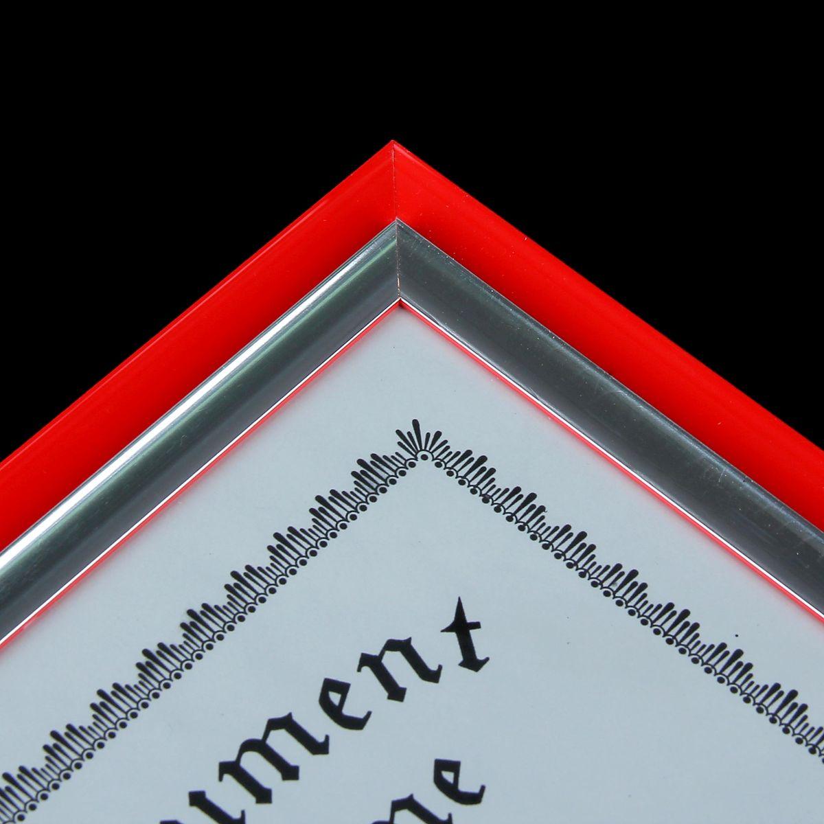 """Фоторамка """"Инновация"""", цвет: красный, А4"""