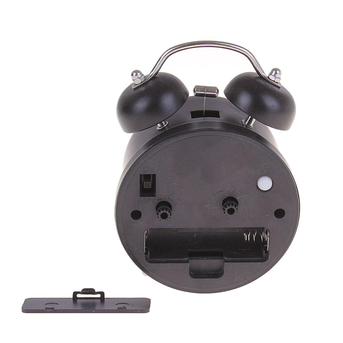 будильник d=8см 2 звоночка на циферблате Мишка-стесняшка микс 127199
