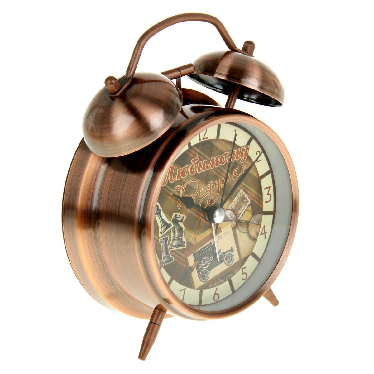 "Часы-будильник Sima-land ""Любимому дедушке"""