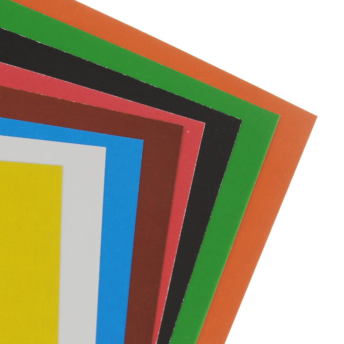 "Набор цветного картона ""Action!: Strawberry Shortcake"", 16 цв, формат А4"
