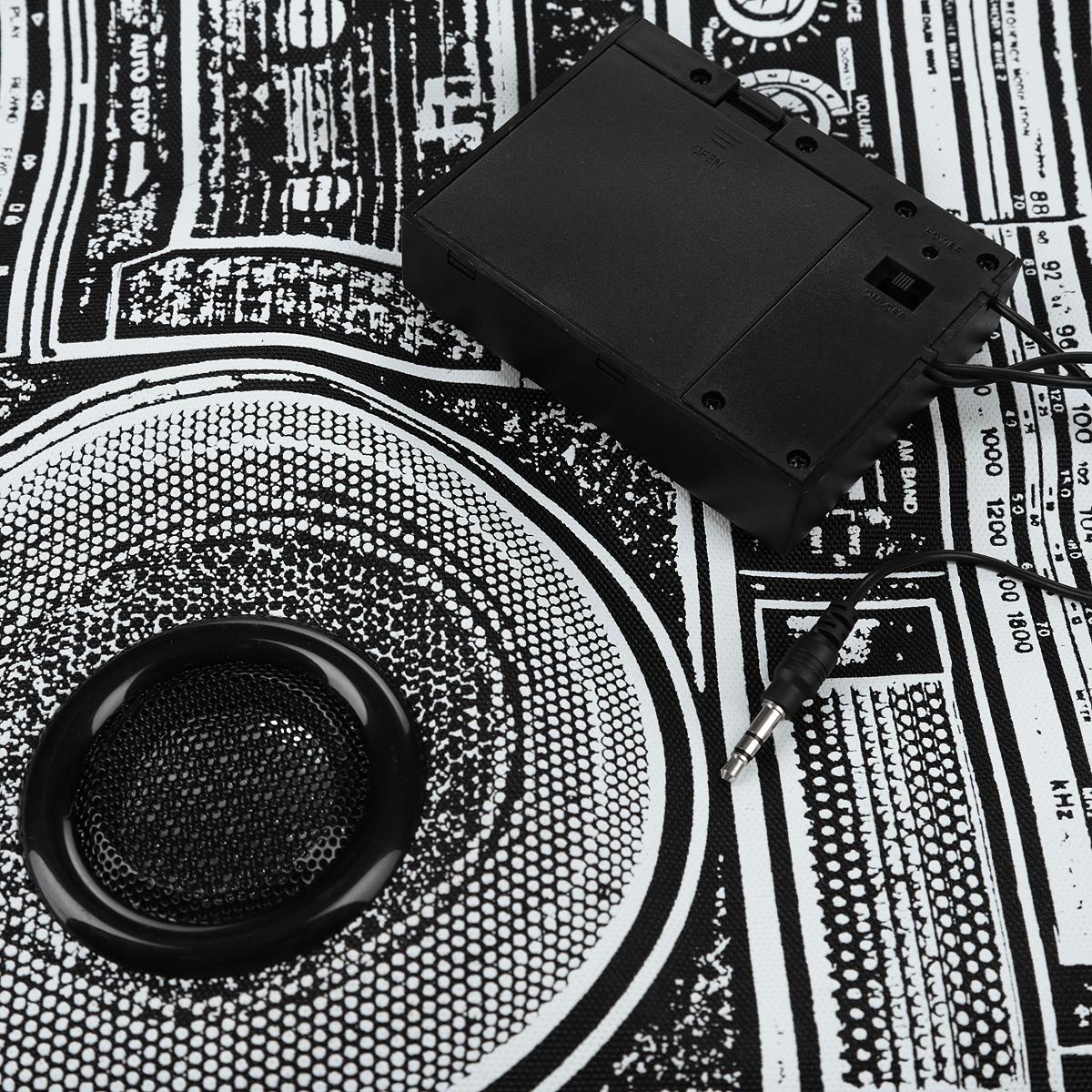 "Рюкзак Mojo Pax ""Boombox"", с динамиками, цвет: черный, белый. KZ9983489 ( KZ9983489 )"