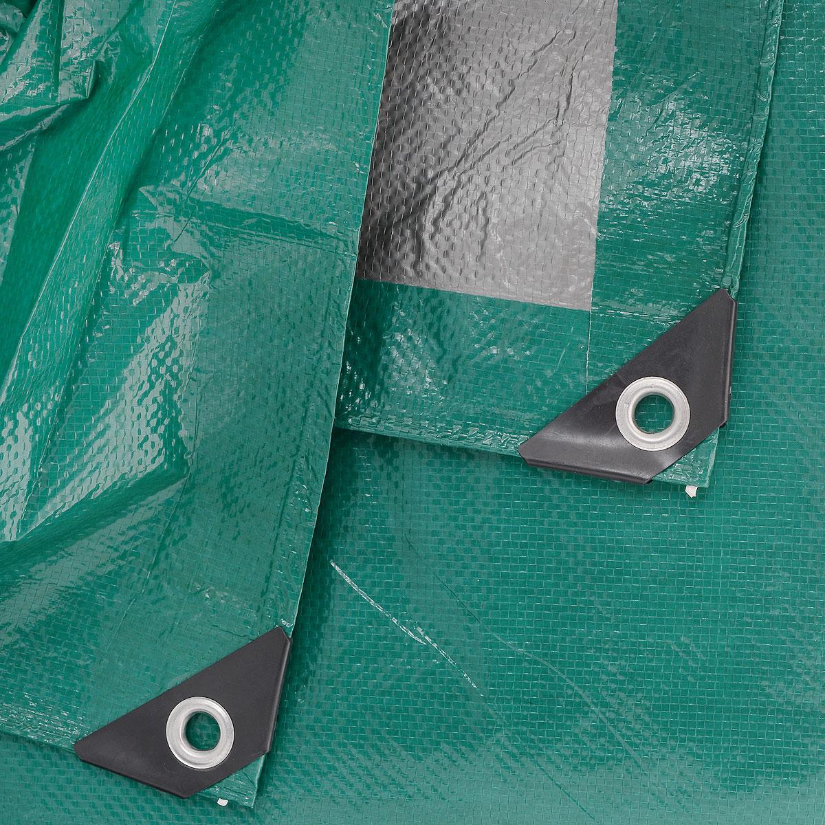 """Тент тарпаулин """"Indiana"""", цвет: зеленый, 4 м х 6 м"""
