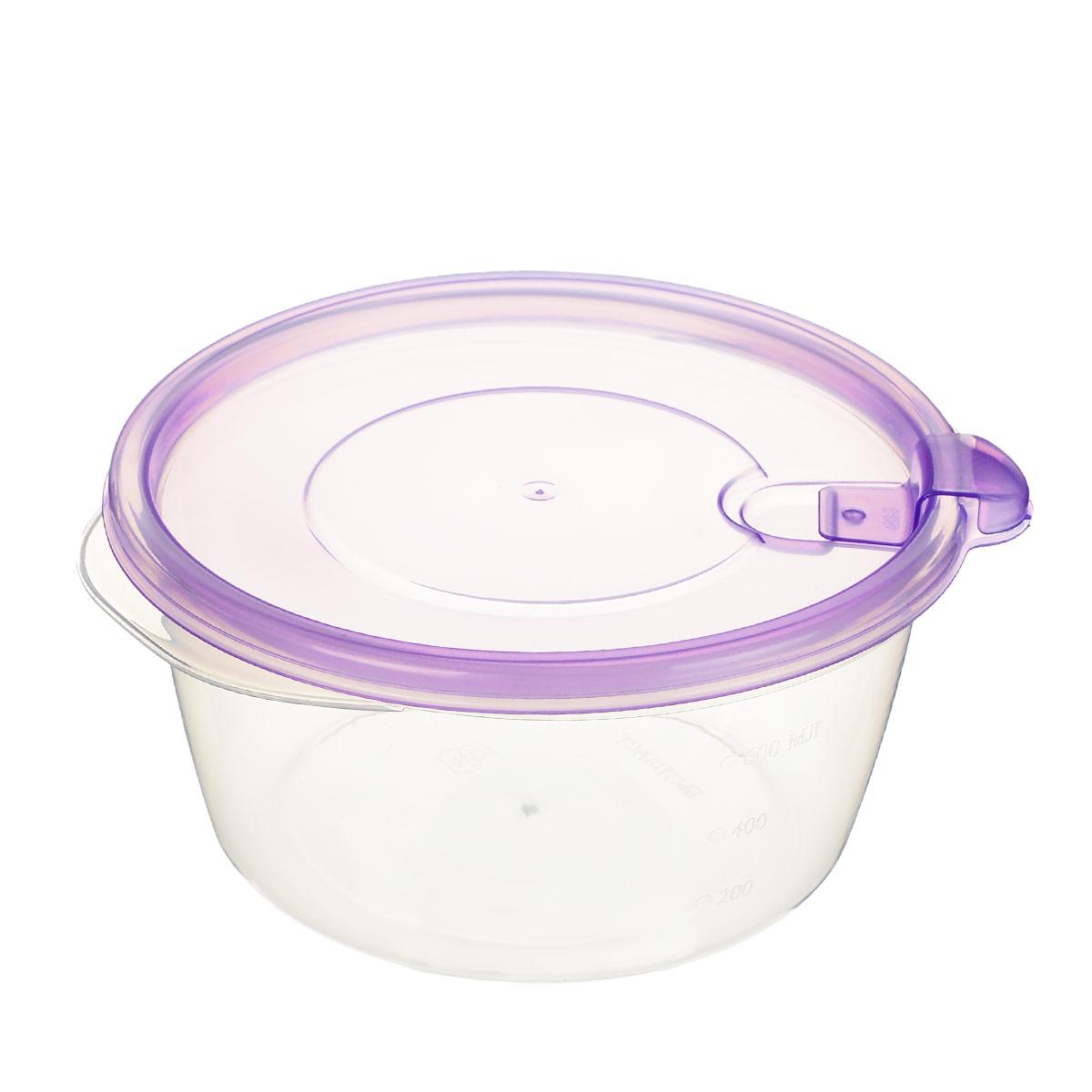 """Набор контейнеров Phibo """"Фрэш"""", с клапаном, цвет: прозрачный, фиолетовый, 750 мл, 3 шт"""