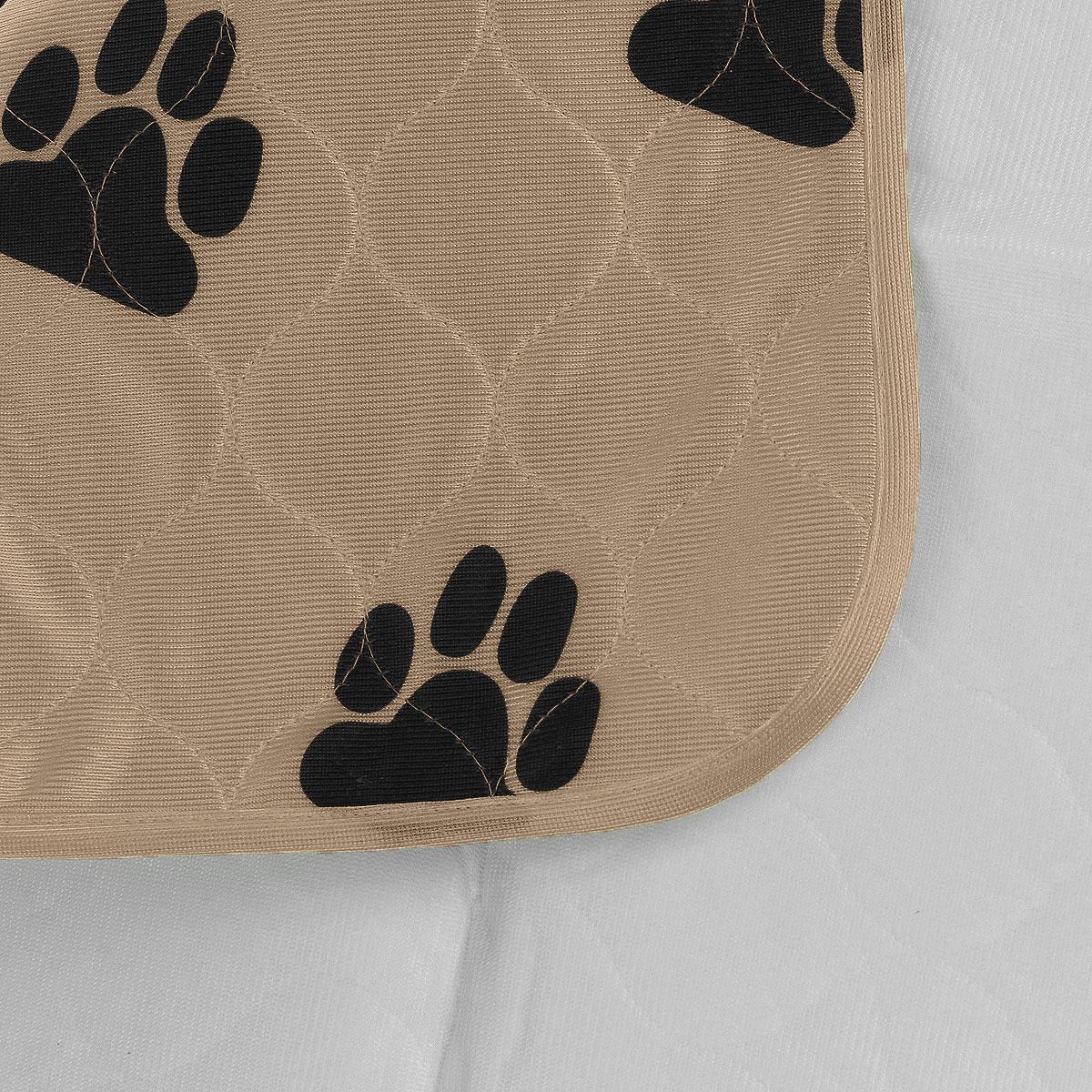 Пеленка впитывающая для животных V.I.Pet, многоразовая, цвет: коричневый, 60 см х 40 см6040M-BRВпитывающие пеленки V.I.Pet предназначены для щенков, котят, собак мелких пород. Используются как комфортные впитывающие подстилки в туалетных лотках, в переносках, в автомобиле. Преимущество этих пеленок в том, что они устойчивы к воздействию когтей и зубов. Супервпитывающие многоразовые пеленки состоят из четырёх слоёв: - первый слой - приятная на ощупь поверхность из микрофибры, которая хорошо пропускает влагу, быстро сохнет; - второй слой отлично впитывает, не давая жидкости растекаться; - полиуретановый слой исключает протекание жидкости; - нескользящий защитный слой. Многоразовые пеленки не загрязняют окружающую среду и экономят ваши деньги! Рекомендуется ручная или машинная стирка с использованием жидкого моющего средства или стирального порошка, но без отбеливателя при температуре 40-60°. Размер пеленки: 60 х 40 см. Материал: абсорбирующий суперполимер. Товар сертифицирован.