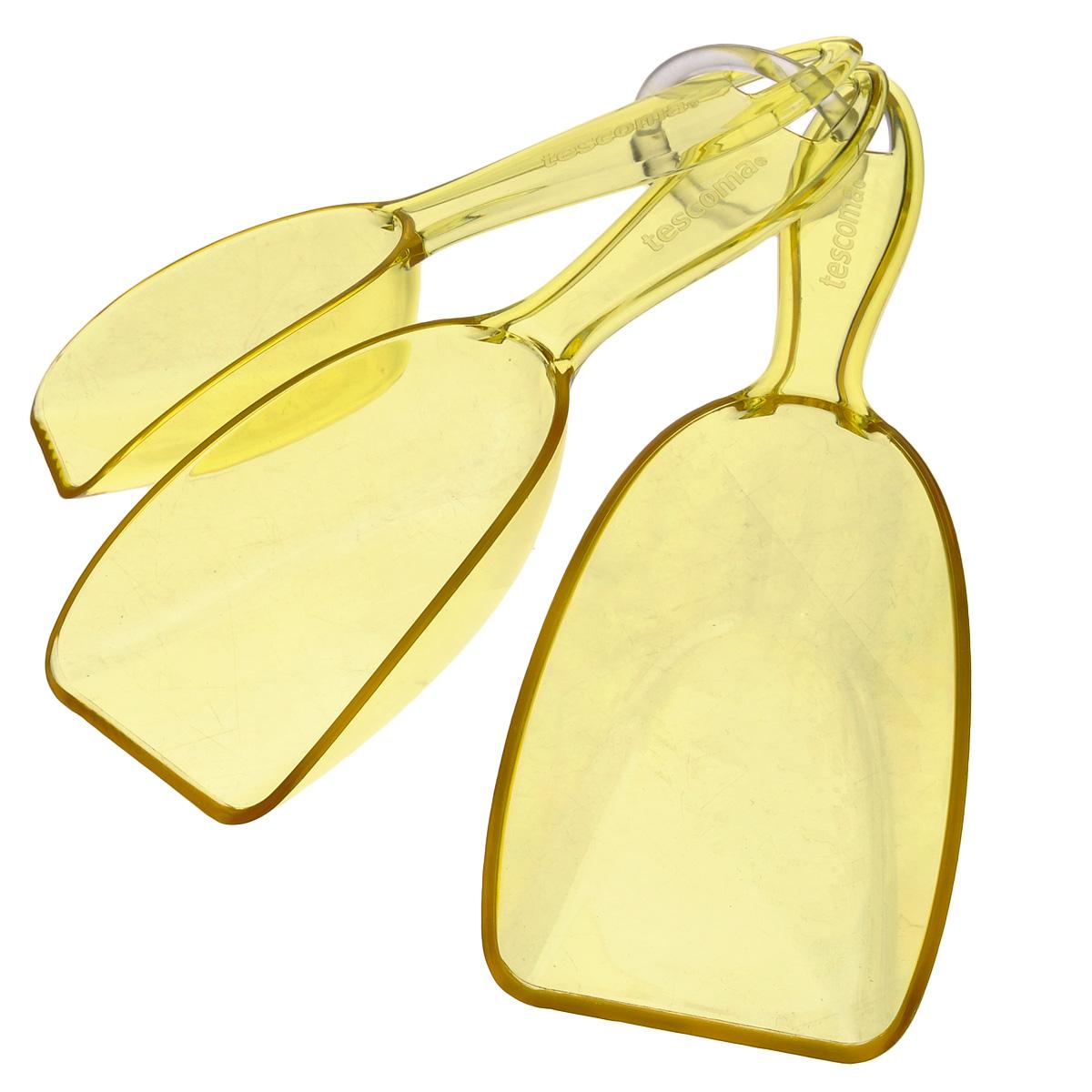 """Ложка для сыпучих продуктов Tescoma """"Presto"""", цвет: желтый, 3 шт"""