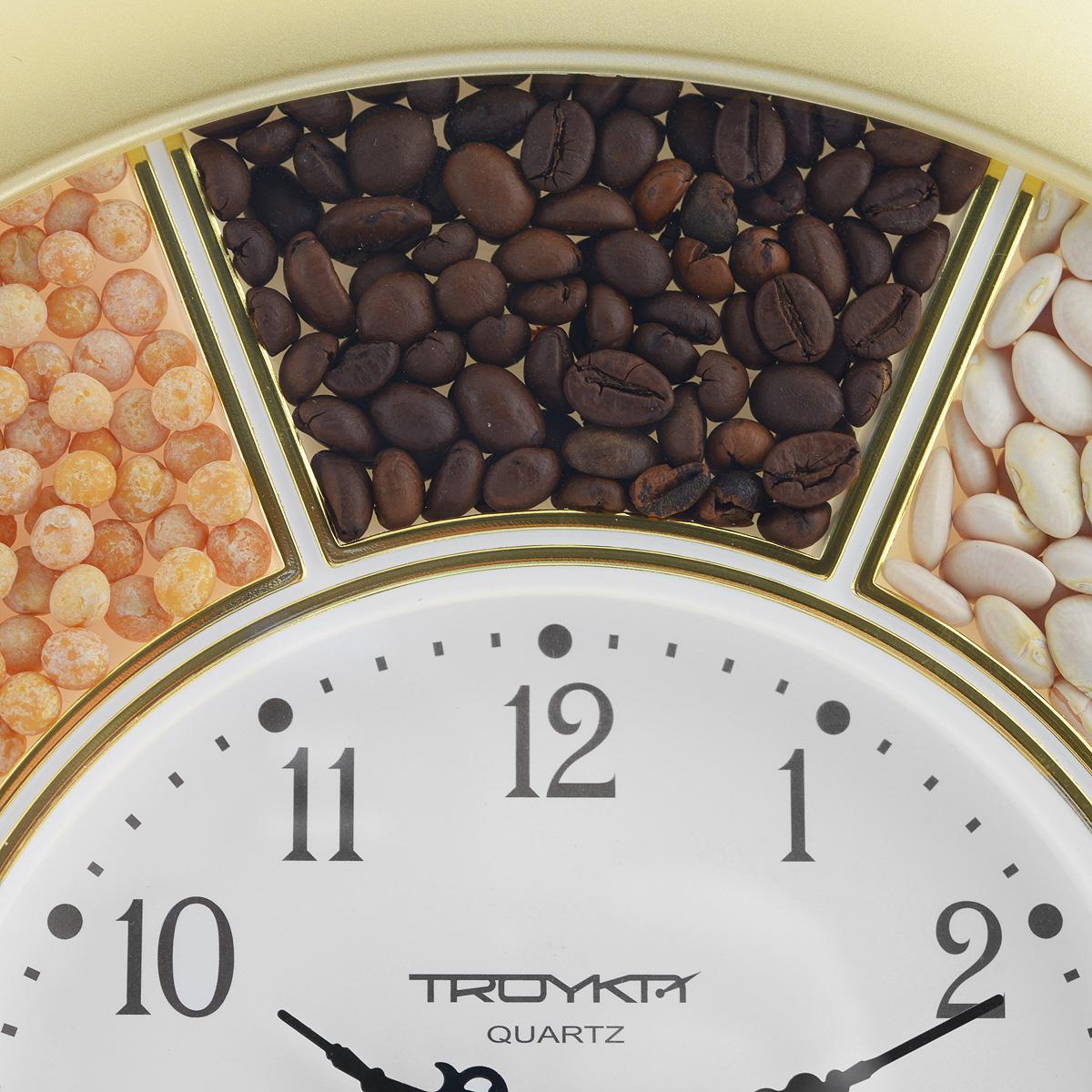 """Часы настенные """"Troyka"""", цвет: золотистый. 11171141"""
