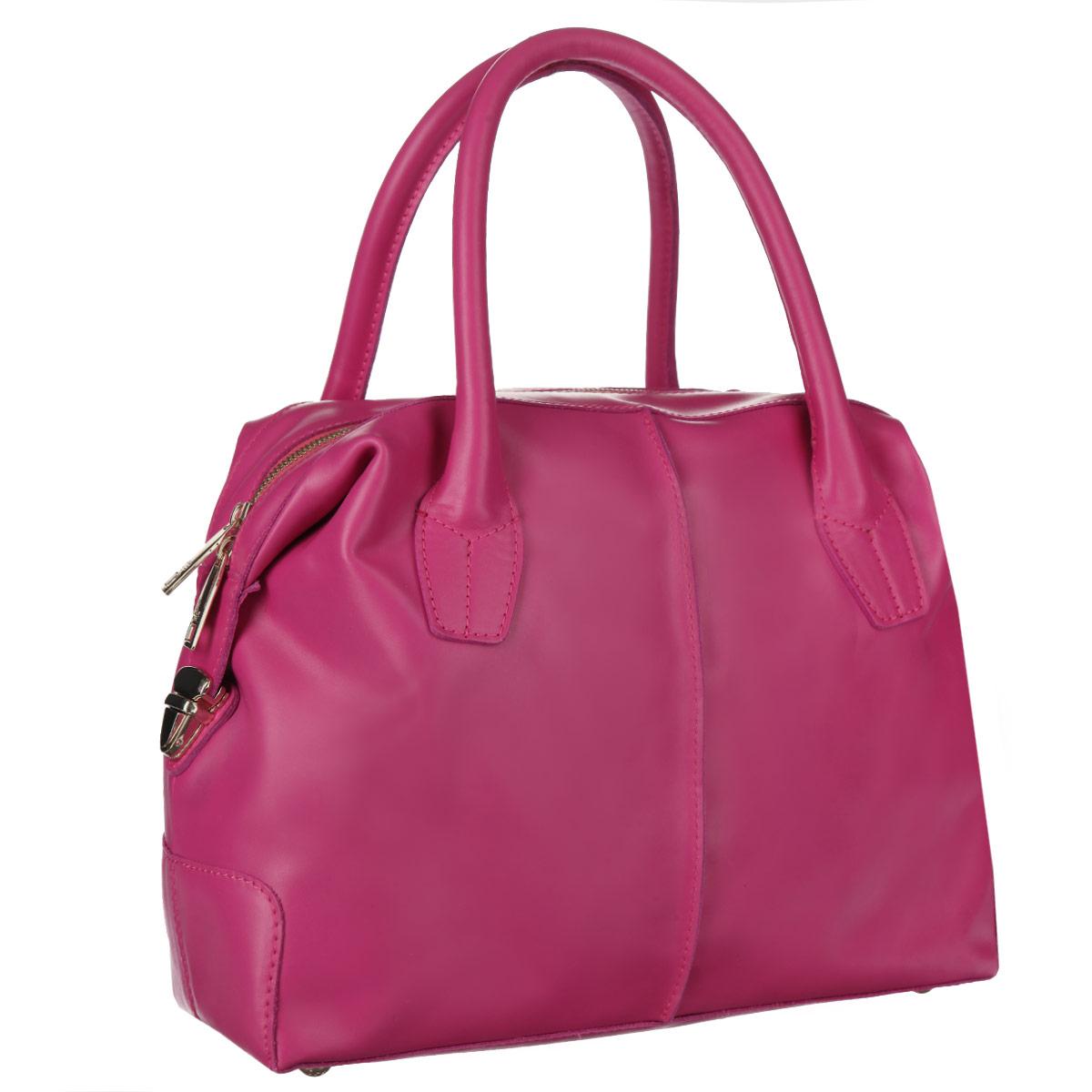 Купить светлую кожаную сумку из Италии недорого