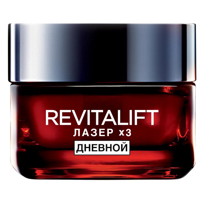 LOreal Paris Revitalift Лазер х3 Дневной антивозрастной крем против морщин для лица, 15 мл