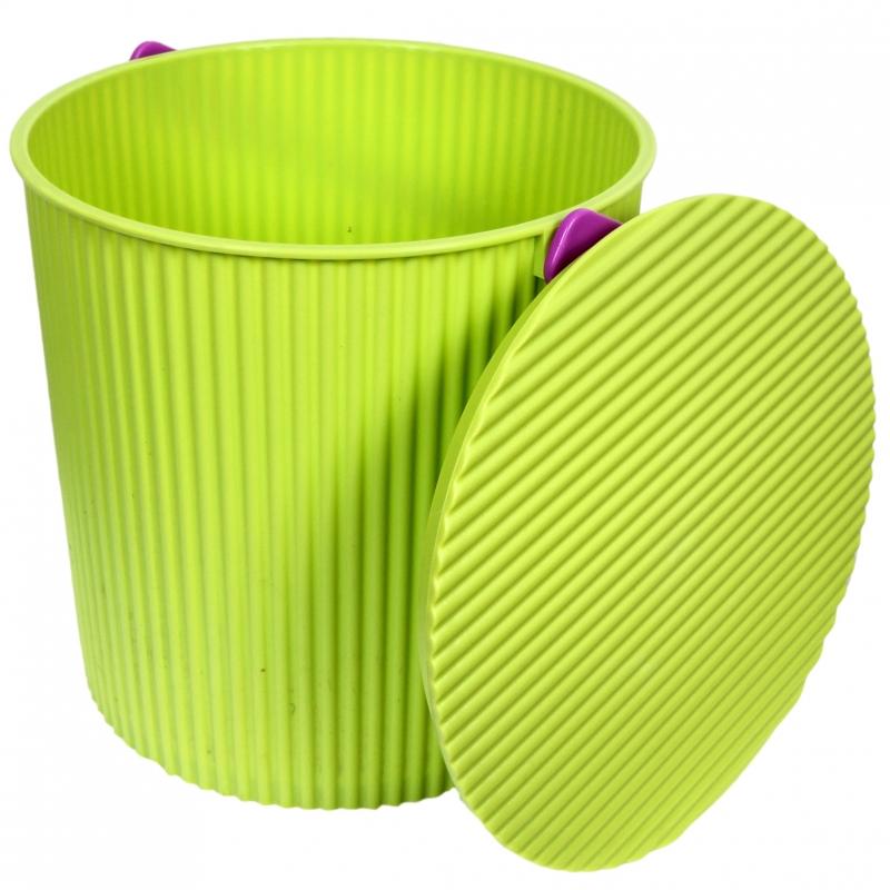 Ведро-стульчик зеленое 20л GRANDE