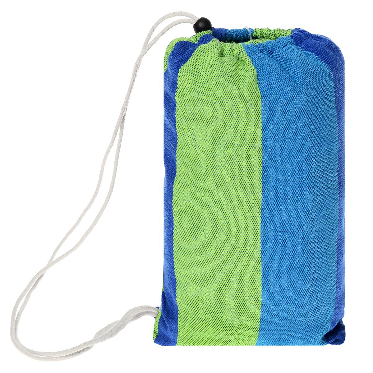 """Гамак полотняный """"KingCamp"""", цвет: синий, зеленый, 200 см х 100 см"""