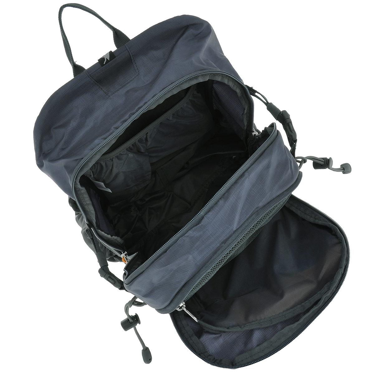 """Рюкзак туристический Husky """"Scampy"""", цвет: серый, оранжевый, объем 35 л"""