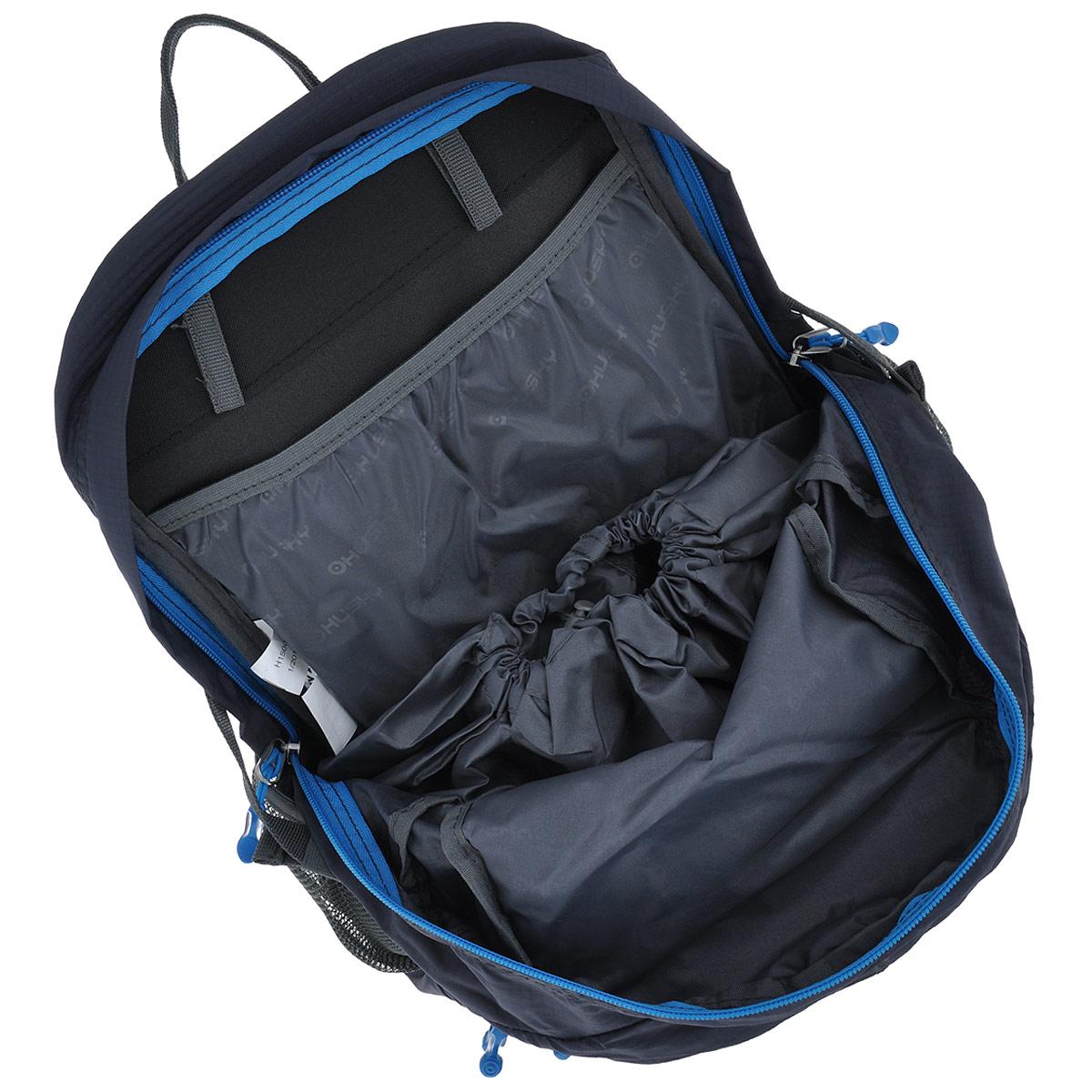 """Рюкзак туристический Husky """"Stingy"""", цвет: серый, черный, синий, 28 л"""