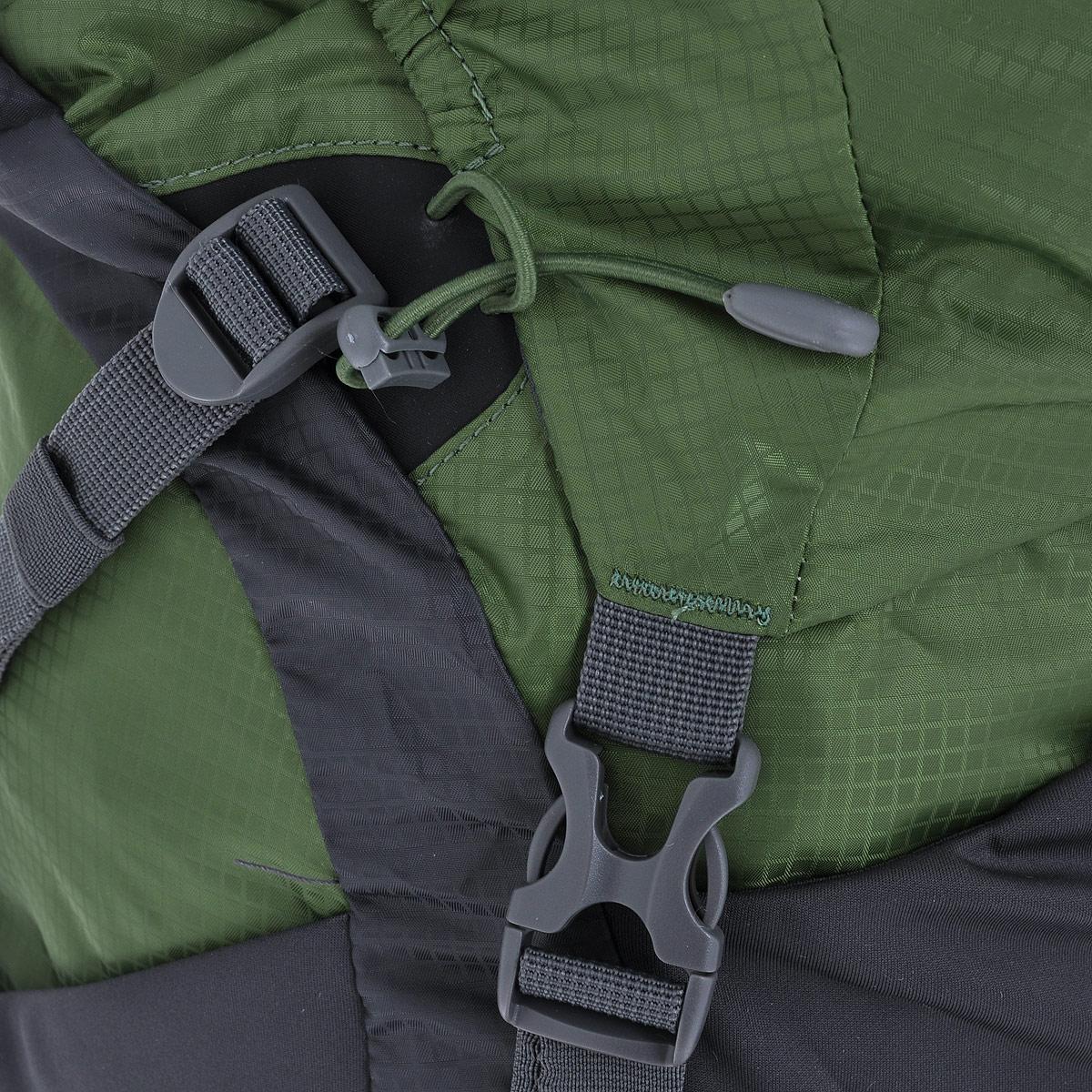 """Рюкзак туристический Husky """"Menic"""", цвет: черный, серый, зеленый, 50 л"""