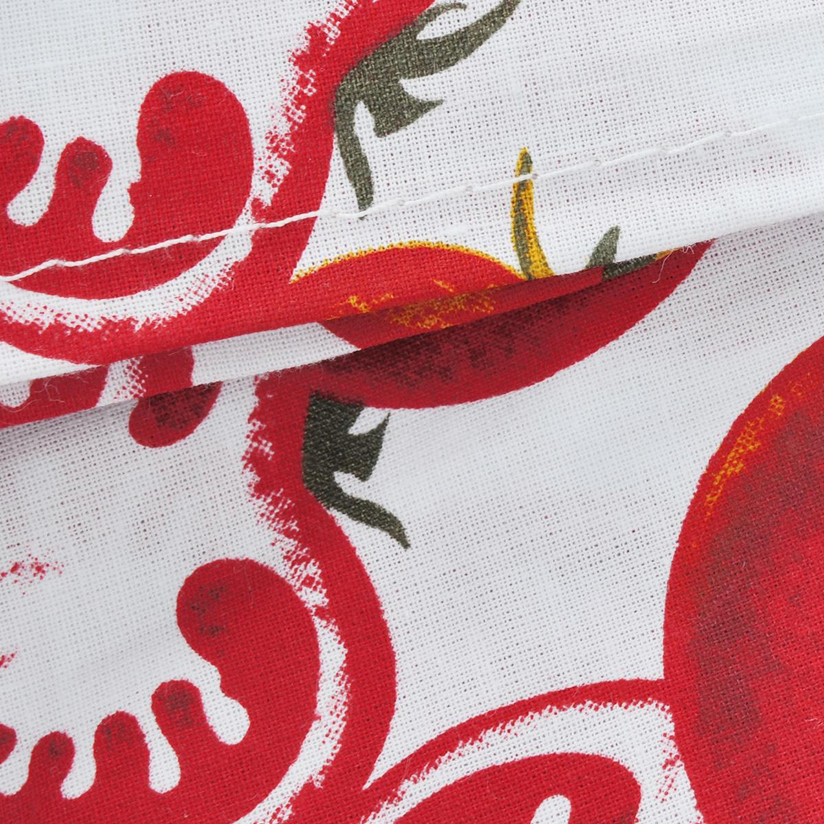 """Скатерть """"House & Holder"""", цвет: белый, красный, 140 x 180 см"""
