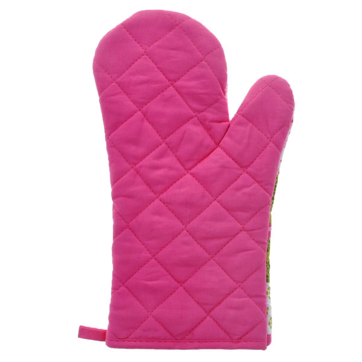 """Рукавица-прихватка """"LaSella"""", цвет: белый, розовый, зеленый, 30 см. MT002009"""