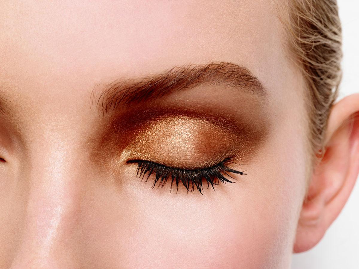 Max Factor 4-хцветные тени для век и бровей Smokey Eye Drama Kit 2 В 1, тон 03 sumptuous golds