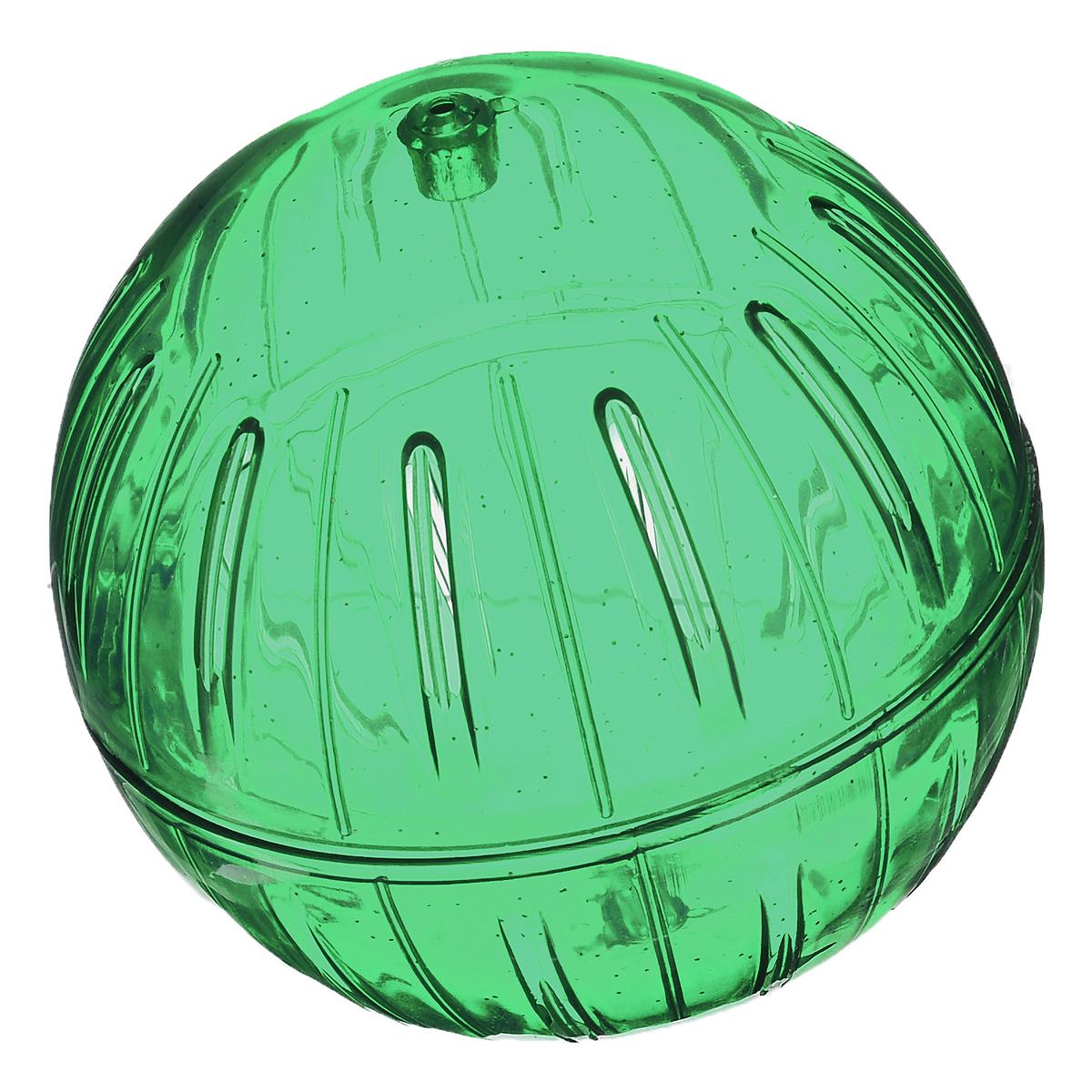 """Игрушка для грызунов I.P.T.S. """"Шар прогулочный"""", цвет: зеленый, диаметр 12 см"""