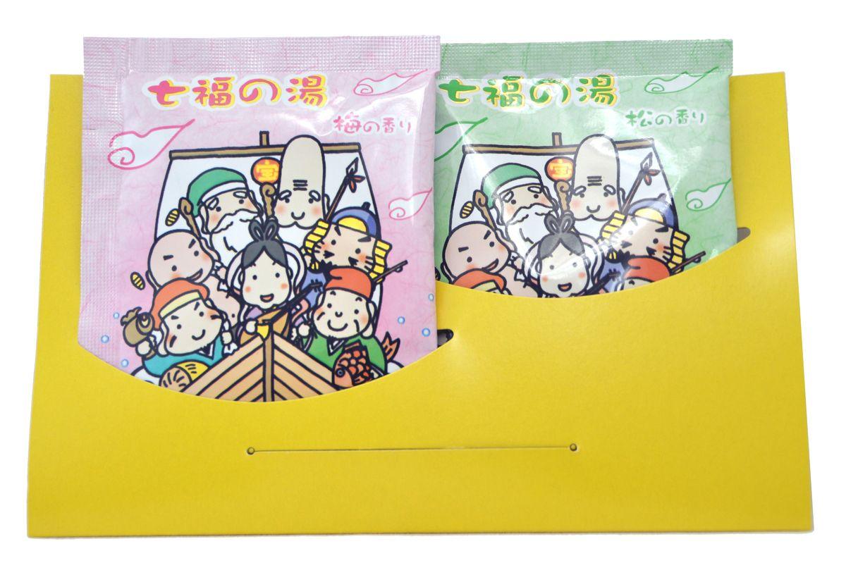Max Соль для ванны Горячий источник Shitifukunoyu, ароматы сосны и сливы, 25 г*2 шт.