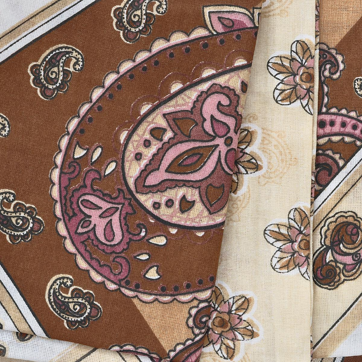 """Комплект белья Олеся """"Восток"""", семейный, наволочки 70х70, цвет: бежевый, коричневый, белый. 2050115637"""