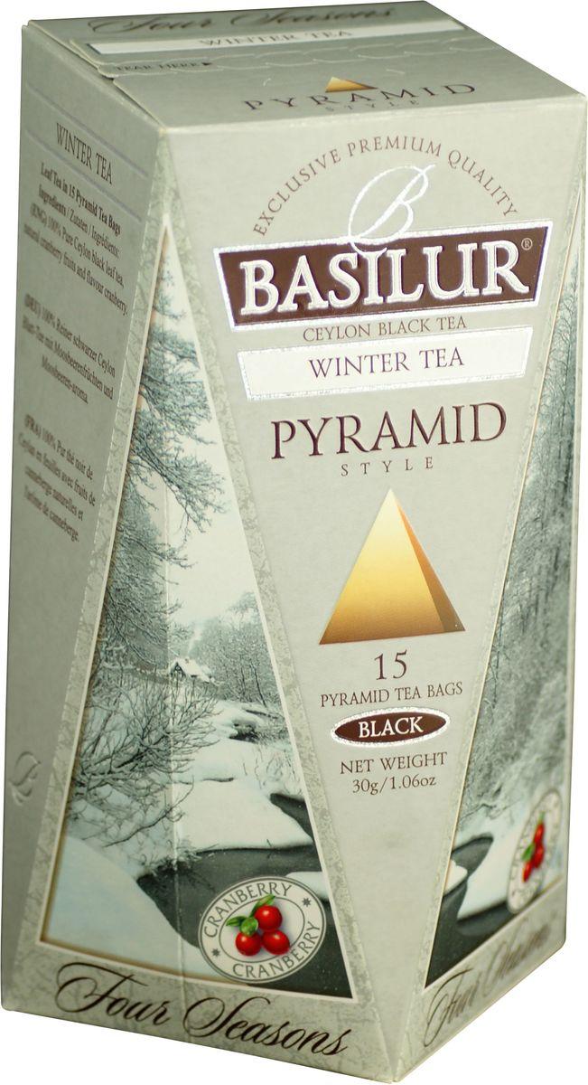 Basilur Winter Tea черный чай в пакетиках, 15 шт