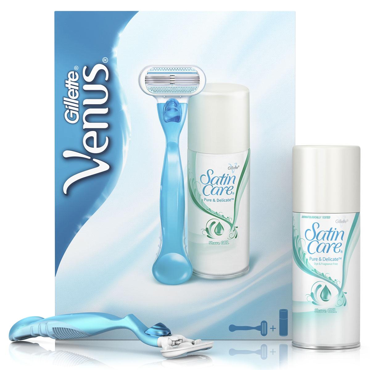 Venus Classic Подарочный набор (Бритва Venus Classic + Гель для бритья Satin Care 75 мл)