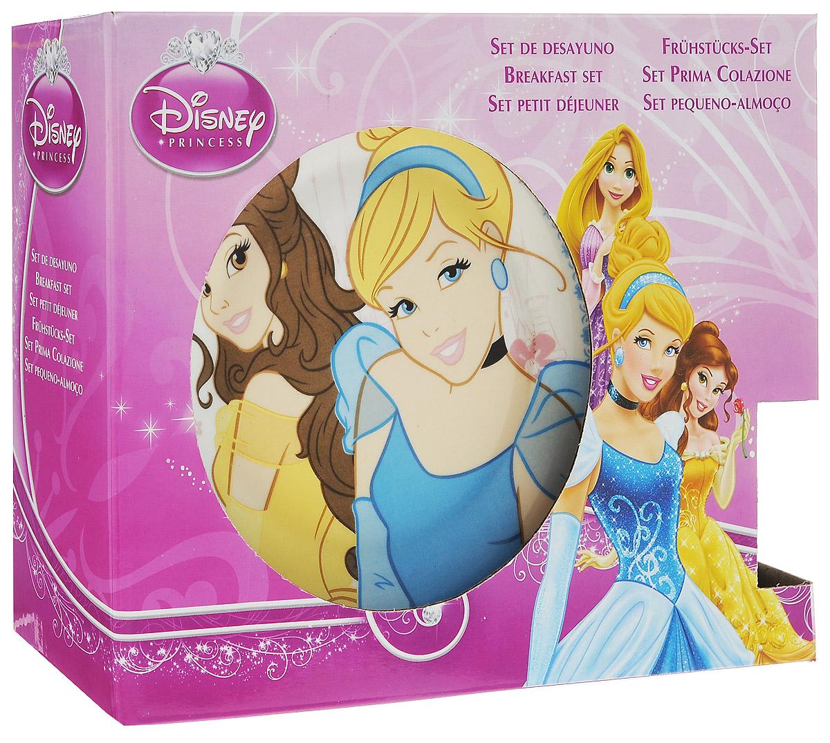 """Disney Набор посуды """"Принцессы"""", 3 предмета"""
