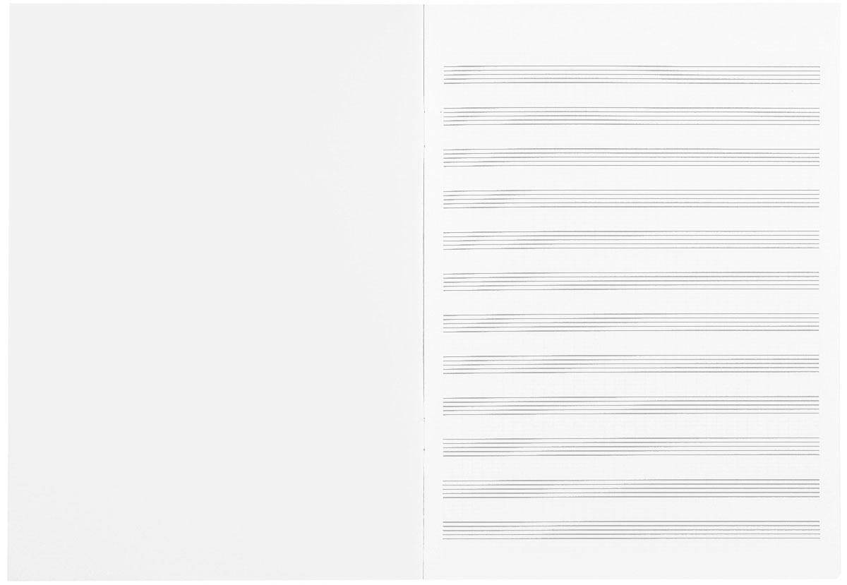 Альт Тетрадь для нот, цвет: синий, серебряный, 16 листов, формат А4