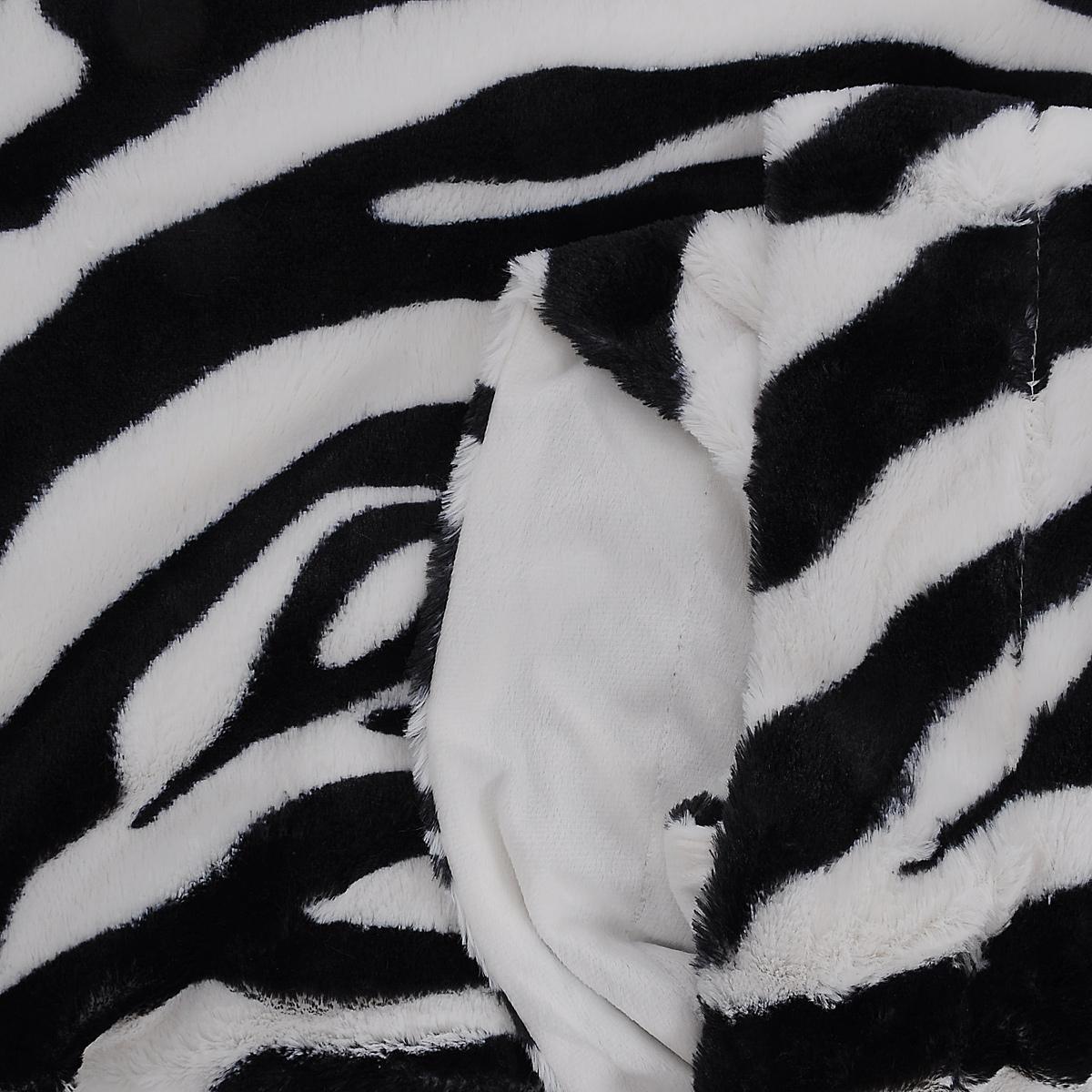 """Плед Buenas Noches """"Chinchilla. Зебра"""", цвет: белый, черный, 220 см х 240 см"""