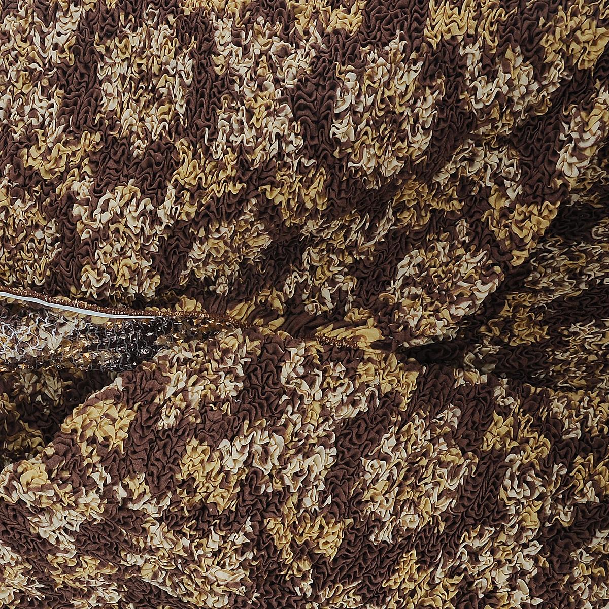 """Еврочехол на кресло Еврочехол """"Классик"""", цвет: коричневый. 6/37-1"""