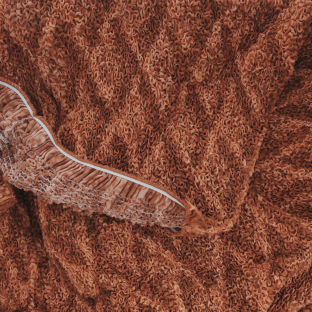 """Еврочехол на кресло Еврочехол """"Ромбы"""", цвет: оранжевый. 6/38-1"""
