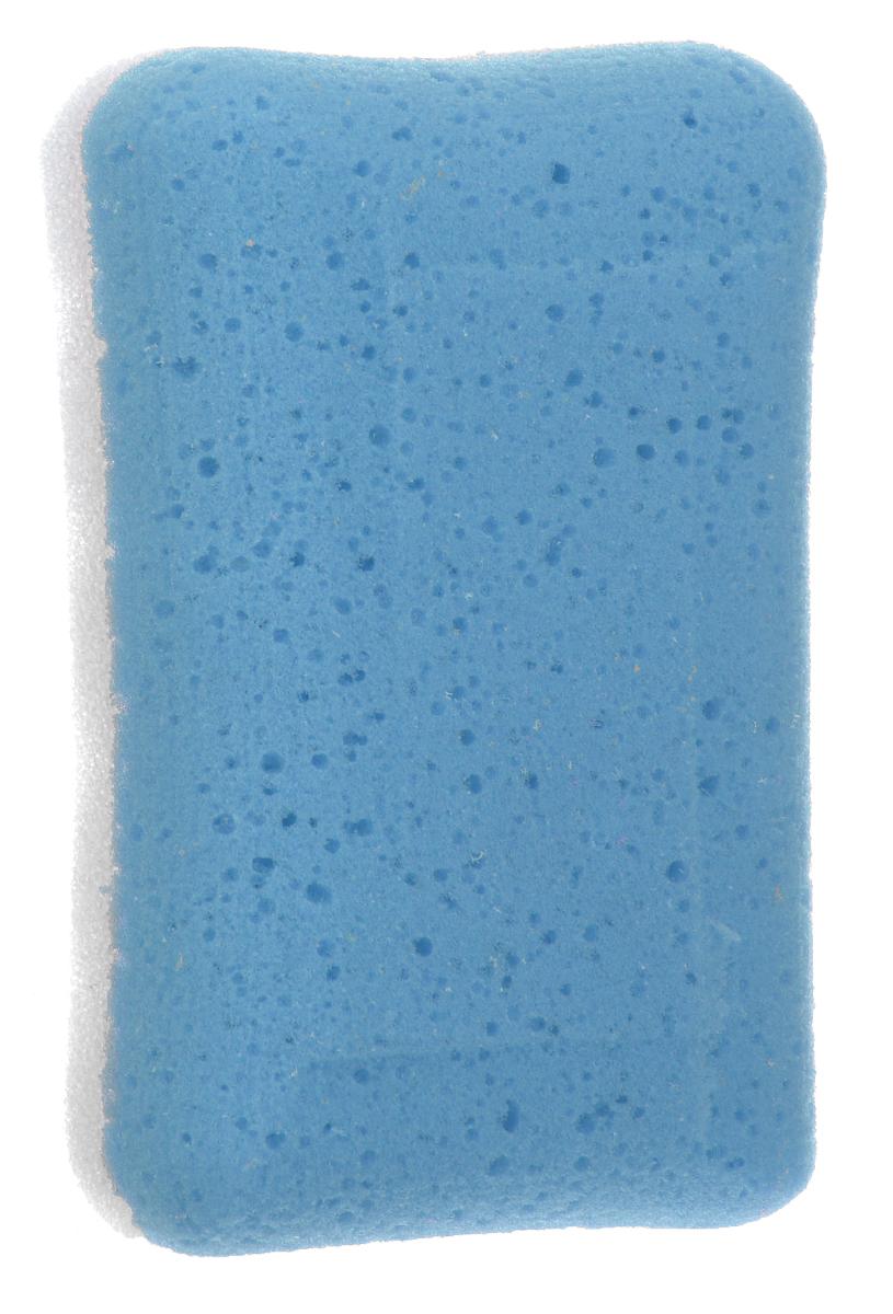 Губка для тела Aqualine, массажная, цвет: голубой, белый, 14,5 см х 9 см х 4,5 (Aqualine / Аквалайн)