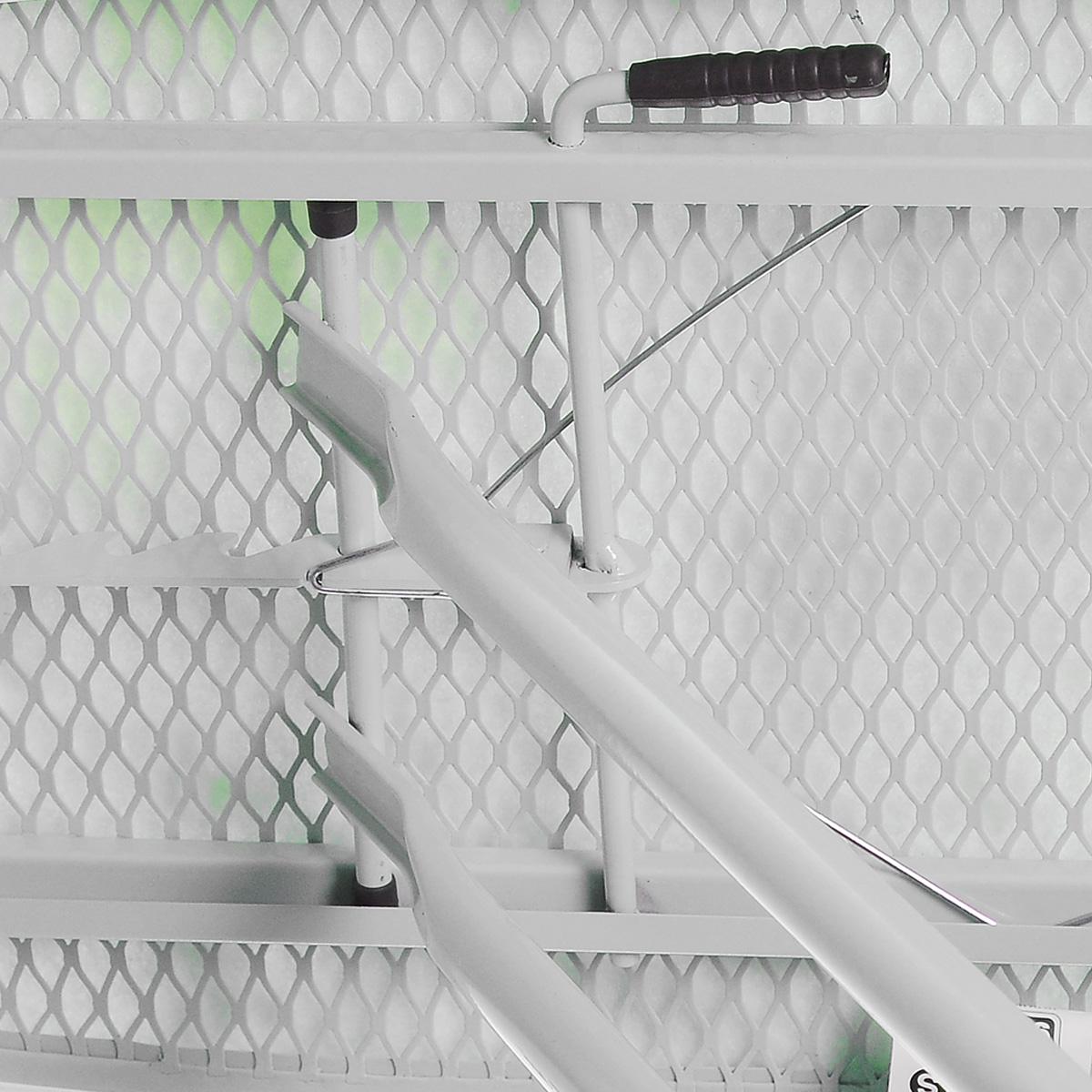 """Доска гладильная Gimi """"Leo"""", цвет: белый, зеленый, 110 x 33 x 90 см 14100365_вьюнок"""