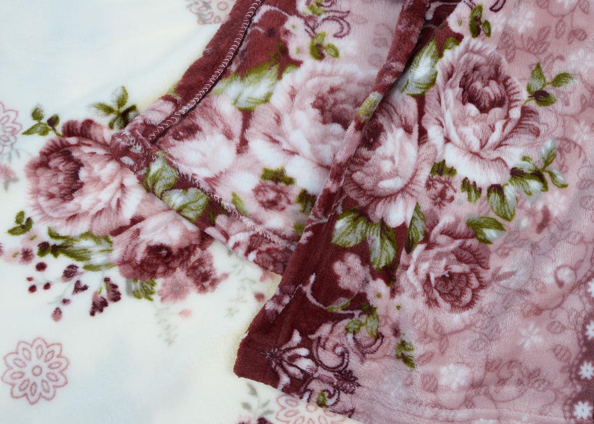 """Плед Amore Mio """"Provence"""", цвет: белый, розовый, зеленый, 150 х 200 см"""