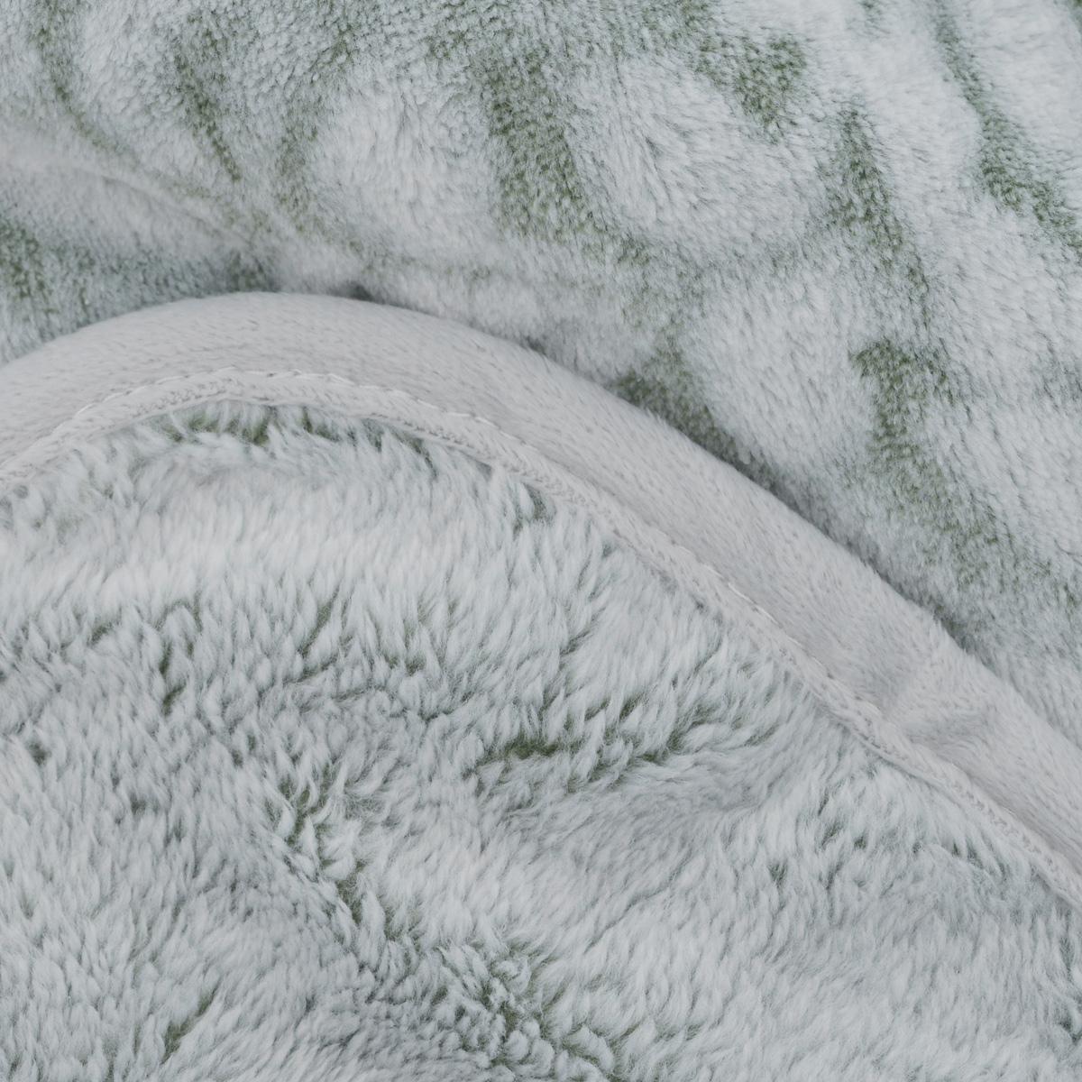 """Плед Buenas Noches """"Фланель. Fiery"""", цвет: белый, зеленый, 200 х 220 см"""