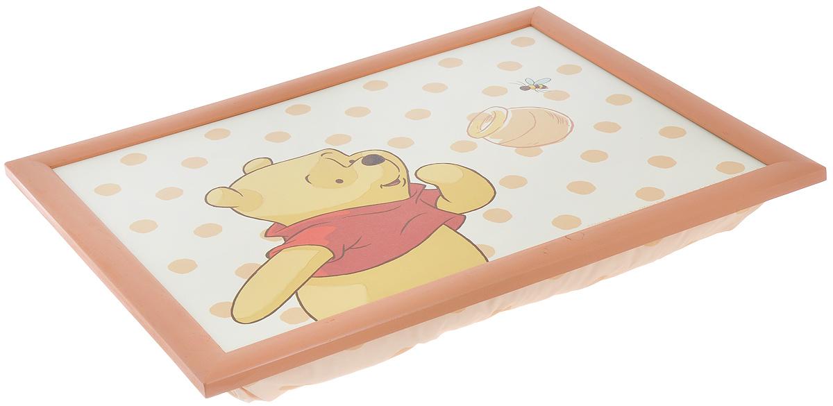 """Столик-поднос Disney """"Винни и его друзья"""", с подушкой, цвет: бежевый, коричневый, 44 см х 34 см х 8 см ( 61240_бежевый, коричневый )"""