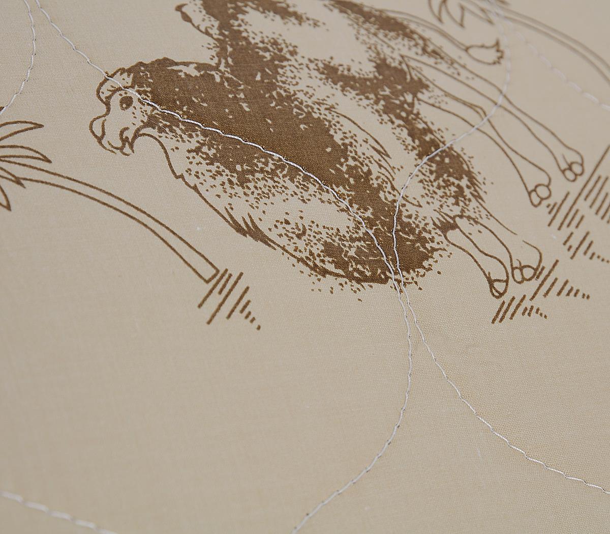 """Подушка """"Sova & Javoronok"""", наполнитель: верблюжья шерсть, цвет: бежевый, коричневый, 50 х 70 см"""