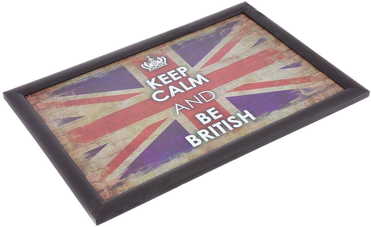 """Поднос-столик Феникс-презент """"Британский флаг"""", с мягким основанием, 41 см х 28 см ( 33147 )"""