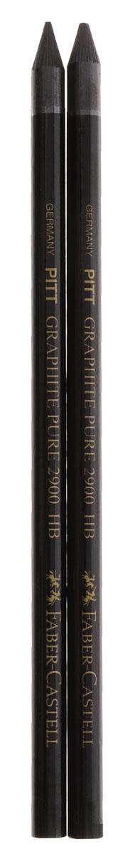 Faber-Castell Чернографитовый карандаш Pitt твердость HB 2 шт