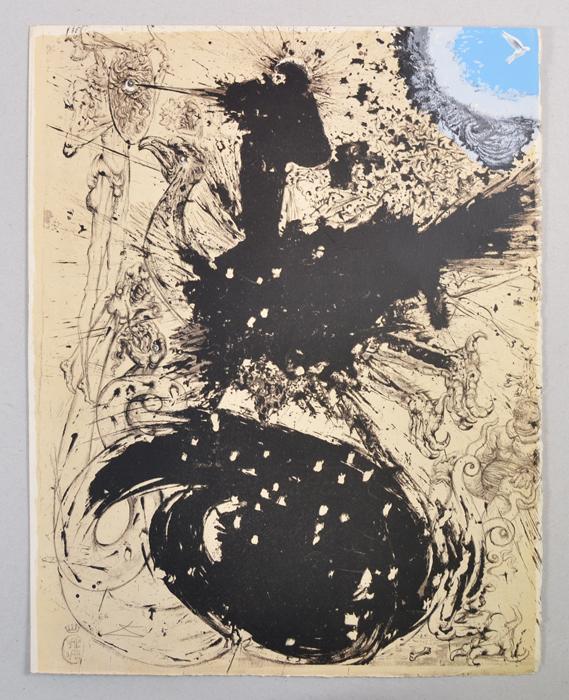 Химера Химерная (Видения Дон Кихота). Сальвадор Дали. Литография из серии