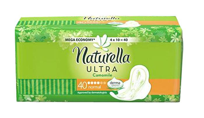 Женские гигиенические прокладки с крылышками Naturella Ultra Normal, 40 шт